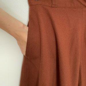 VTG Wool skirt - rust color - A line